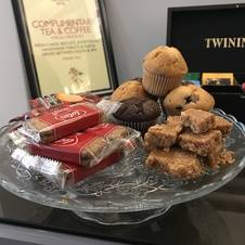 Complimentary Cakes & Biscuits in the Mackintosh Lounge every afternoon